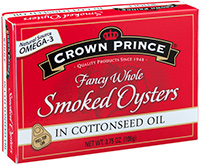 Smoked Oysters in Cottonseed Oil