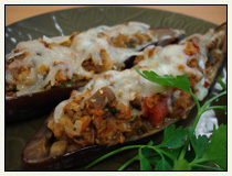 Baked Eggplant with Sardines