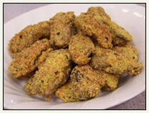 Parmesan and Cornmeal Crusted Oysters