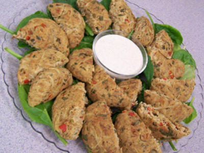 Salmon Cakes with Tangy Mustard Sauce