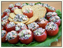 Shrimp Salad Stuffed Tomatoes